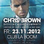 Chris Brown Aftershowparty im La Boom